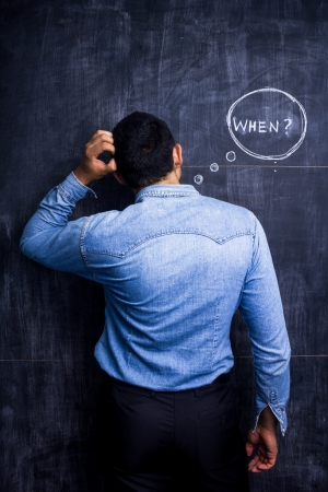 Confused man asking when Stock Photo - 21192774