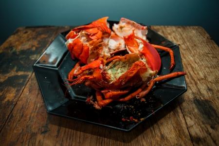 lobster dinner: Leftovers of a lobster dinner