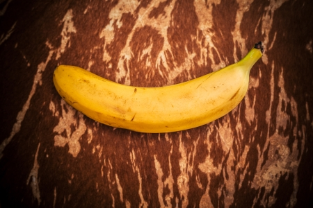 cow hide: Banana on a cow hide texture