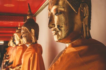 transcendental: Buddha statues at Wat Pho Thailand