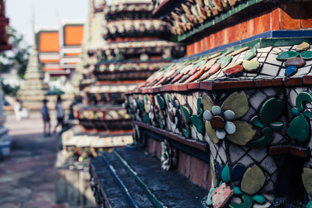 transcendental: Detail of the ornamental features in a buddhist temple