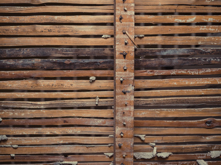 daub: An old exposed wattle and daub wall from Victorian times Stock Photo