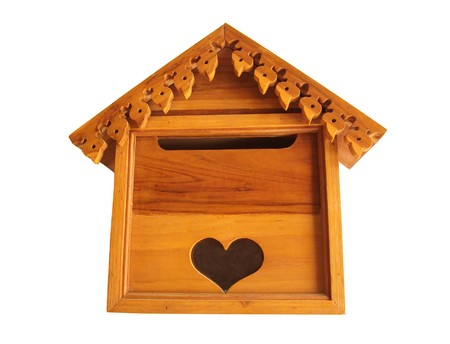 Wooden Mailbox. photo