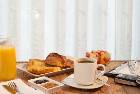 breakfast meeting Stock Photo