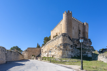 Alarcon village castle in the province of Cuenca Spain on a sunny winter day