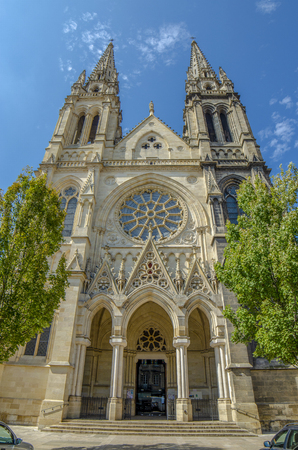 Bordeaux, France, September 2014: Catholic Church Saint Louis of Chartrons