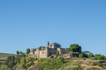 Castle of Puebla de Sanabria village in the province of Zamora Spain on a sunny summer day