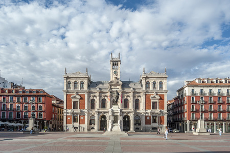 Valladolid, Spain, October 2010: Town Hall is located in the Main Square of the city of Valladolid, Spain.