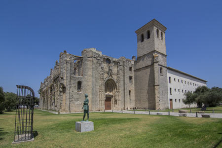 Monastery of the Victory in the city of Puerto de Santa Maria in Cadiz 스톡 콘텐츠