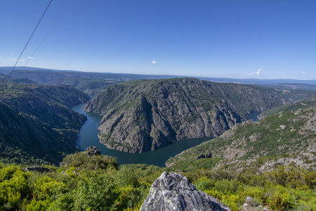 View from the Canyon of the river Sil in the Ribeira Sacra in the province of Ourense, Galicia