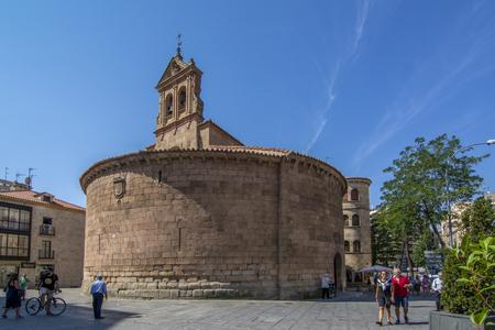 Salamanca, Spain; September 2018: San Marcos church a Roman building with a circular floor in Salamanca Spain