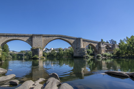 Roman bridge over the river Mi?o as it passes through the city of Ourense