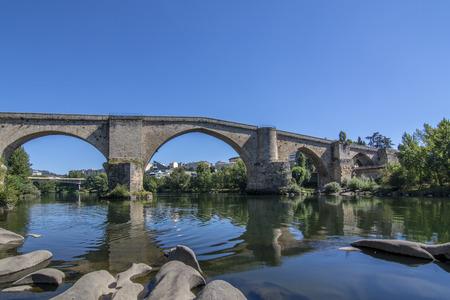 Roman bridge over the river Mi?o as it passes through the city of Ourense