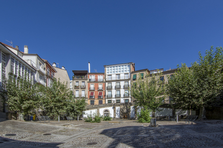 Orense, Galicia, Spain; September 2018: San Marcial Square in the historical center of the city of Ourense
