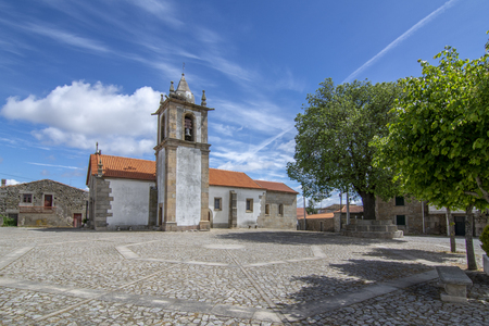church and square  in Freineda, Portugal. Фото со стока