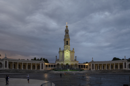 Fatima, Portugal - July  2014: The Sanctuary of Fatima, which is also referred to as the Basilica of Our Lady of Fatima, Portugal
