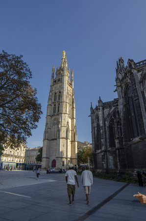 Bordeaux, Aquitaine, France; September 2014: Cathedral of  Saint-Andre  is a Roman Catholic cathedral, seat of the Archbishop of Bordeaux-Bazas, located in Bordeaux