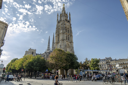 Bordeaux, Aquitaine, France; September 2014 Cathedral of  Saint-Andre  is a Roman Catholic cathedral, seat of the Archbishop of Bordeaux-Bazas, located in Bordeaux