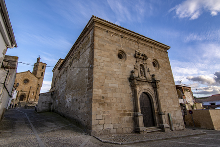 churches of the historic center of the village of Alcantara in the province of Caceres, Spain