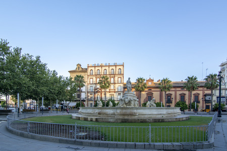 Sevilla, Andalucia, Spain; July 2017: square located in the heart of historic Seville