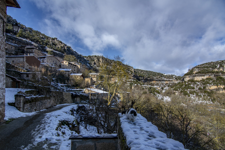 Orbaneja del Castillo is one of the most beautiful villages in the province of Burgos,  Spain