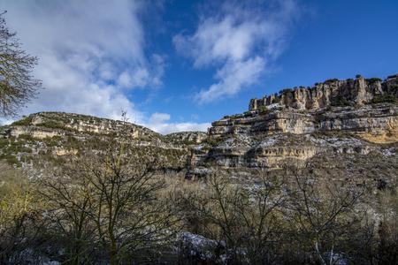 Point of view of Canyon Ebro river in Orbaneja del Castillo.Burgos.Spain