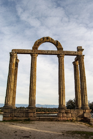 Roman ruins of Augustobriga, in Bohonal de Ibor in the province of Caceres, Extremadura ,  Spain
