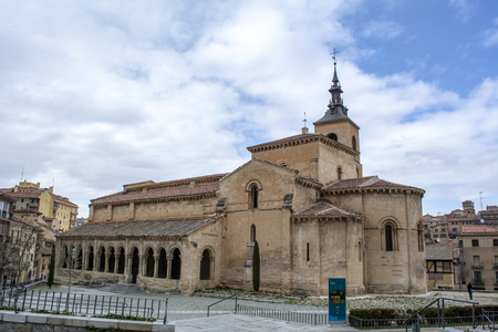 Segovia, Spain: March 2015:  Catholic church of San Millan  in the Spanish town Segovia ( UNESCO World Heritage Site)