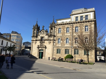 Lugo, Galicia, Spain; April 2015: Panoramic image of the church of San Froilan, famous place of Lugo