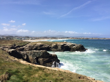 Geological Formations On The Shore Of The Beach Of The Cathedrals In Ribadeo