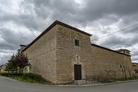 Penaranda de Duero, Burgos, Spain April 2015: view of the facade of the Monastery of the Franciscan Conceptionist Mothers of Pe?anda de Duero in the province of Burgos, Spain