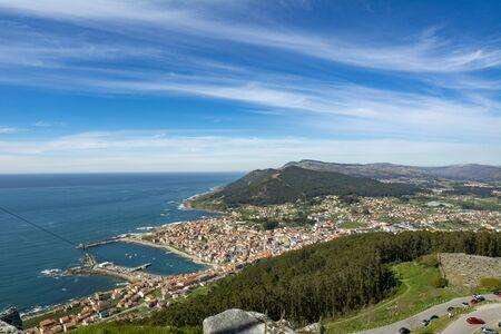 view of the coast of La Guardia, Galicia-Spain from the top of Santa Tecla mount Stock Photo