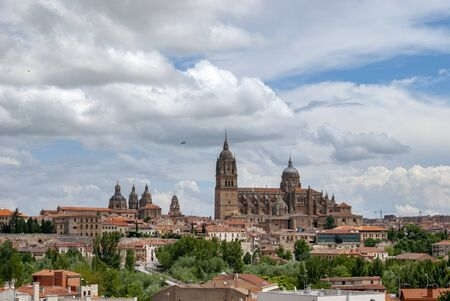 Beautiful view of The New Cathedral of Salamanca