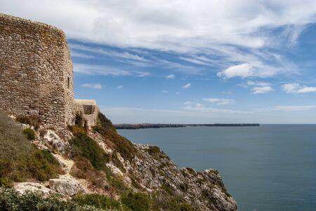 The medieval Forte do Beliche near Cabo de Sao Vicente in Algarve, Portugal Stock Photo