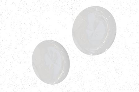 Contact lenses vision. 3d Illustation Stock Photo