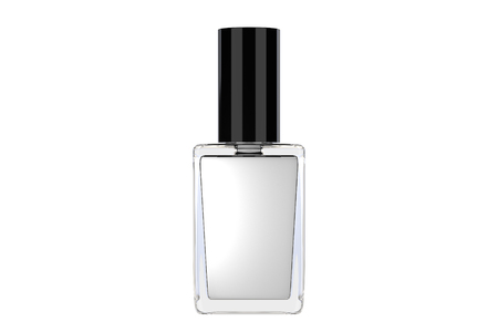 white nail polish bottle on white background. 3d illustration 版權商用圖片