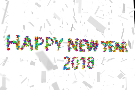 The words Happy New Year. 3d illustration Stock Photo