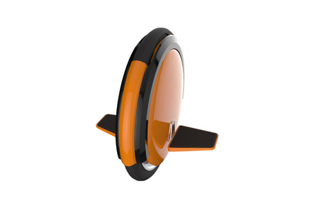 Self balancing electric scooter, hoverboard, gyroscope or gyroboard. 3d illustration