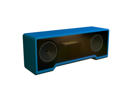 Wireless speaker on white background. 3d illustration