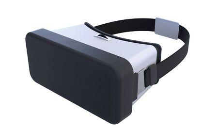 Virtual reality helmet isolated on white background. 3d illustration Reklamní fotografie
