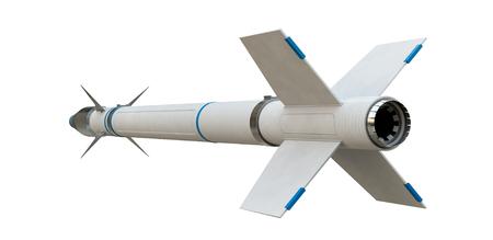 Cruise missile isolated on white background. 3d illustration