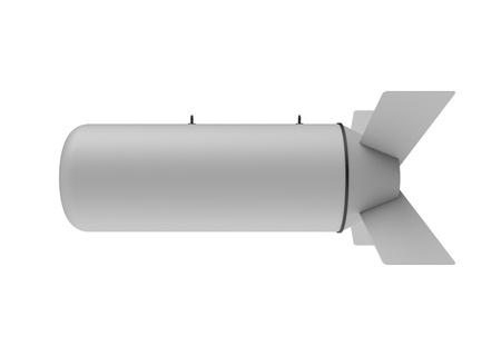 Aerial Bomb on white background Stock Photo