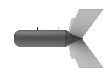 Aerial Bomb on white background 스톡 콘텐츠