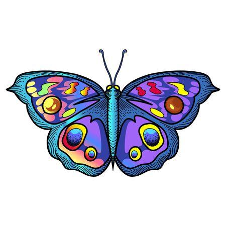 Butterfly esport mascot logo desain