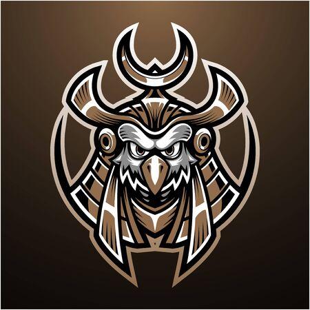 Horus head mascot logo design
