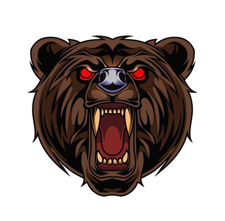 Bear esport mascot logo design