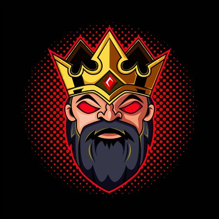 Dwarf king head mascot logo