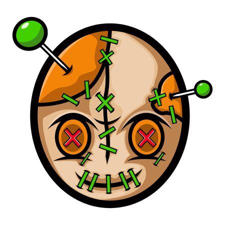 voodoo head mascot logo design