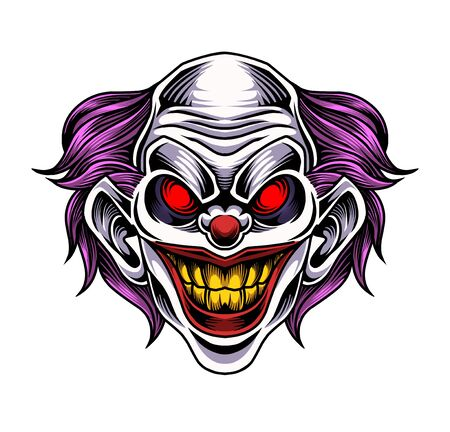 Clown esport mascot logo Logos