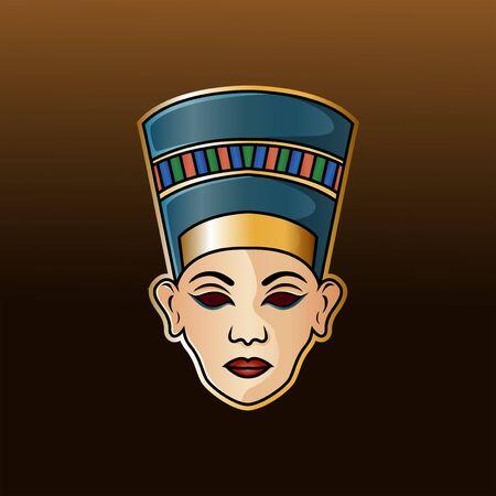 Nefertiti head esport mascot logo